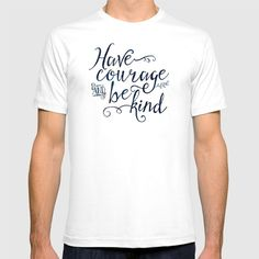 Have Courage and Be Kind (navy colorway) T-shirt
