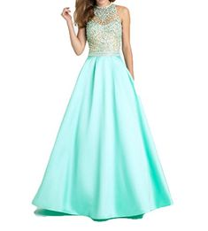 Ellenhouse Womens Long Beaded Halter Satin Evening Prom Party Dress EL253 *** Check out this great product.