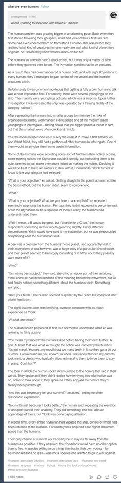 Humans are weird - braces