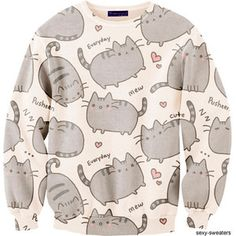 New Fashion Men/Women Cartoon Pusheen Cat Sweatshirt Printed Moleton Long Sleeve Animal Hoodies Sweatshirts Women Hoody, Gender Best Quality And Cheapest Price Kawaii Fashion, Cute Fashion, Look Fashion, New Fashion, Womens Fashion, Sweet Fashion, Fashion Styles, Korean Fashion, Fashion Outfits