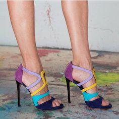 Colourful shoe.