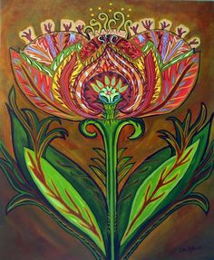 """Flower Power"" by Catherine Nolin. Acrylics, 2010."