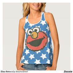 Sesame Street - Elmo Retro 2. Producto disponible en tienda Zazzle. Vestuario, moda. Product available in Zazzle store. Fashion wardrobe. Regalos, Gifts. #camiseta #tshirt