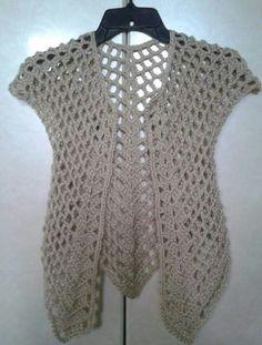 ❤ Simply Crochet, Free Crochet, Crochet Top, Crochet Summer Tops, Sleeveless Jacket, Crochet Crafts, Crochet Projects, Crochet Cardigan, Crochet Clothes
