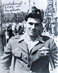 "Band of Brothers hero William ""Wild Bill"" Guarnere after the war - he died on March 8, 2014 at the age of 90. http://www.history.com/news/bill-guarnere-member-of-world-war-ii-band-of-brothers-dies"
