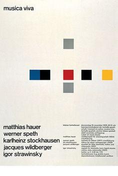 Musica Viva Kleiner Tonhallesaal – 1959 Design – Josef Müller–Brockmann