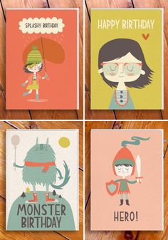 Love these illustrated cards!