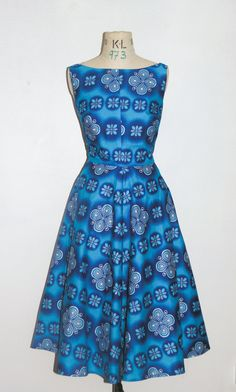 Items similar to Blue African Print Cirlce Skirt Dress on Etsy Latest African Fashion Dresses, African Print Fashion, Africa Fashion, Chic Dress, Classy Dress, Dress Skirt, African Attire, African Dress, African Wear Designs