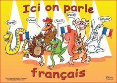 """""""Ici on parle français"""" - français en salle de classe"""