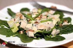Więcej Niż Zdrowe Odżywianie Szpinak w sałatce - Zdrowe Odżywianie. Gluten Free Recipes, Healthy Recipes, Healthy Food, Free Food, Asparagus, Vegetables, Healthy Foods, Studs, Healthy Eating Recipes