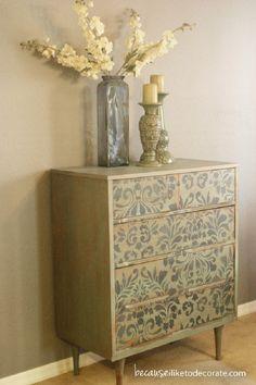 DIY A Vintage Transitional Dresser