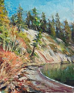 Art Every Day : Boat Launch at Larrabee Park,landscape,oil on canv...
