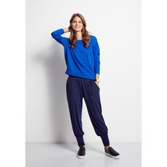 Dolman Sloppy Joe from hush. Love this casual sweatshirt Harem Trousers, Trouser Jeans, Hush Hush, Just In Case, Long Sleeve Tops, Women Wear, Normcore, Tees, Casual