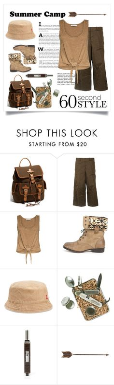 """Summer Camp"" by conch-lady ❤ liked on Polyvore featuring FOSSIL, Dsquared2, Alice + Olivia, DbDk, Levi's, ACME Party Box Company, Baobab Collection, Creative Co-op, summercamp and 60secondstyle"
