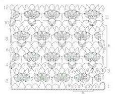 Irish lace, crochet, crochet patterns, clothing and decorations for the house, crocheted. Crochet Borders, Crochet Diagram, Crochet Chart, Crochet Squares, Filet Crochet, Crochet Motif, Crochet Flowers, Knit Crochet, Crotchet Patterns