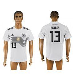 Tyskland Thomas Muller 13 Hemmatröja Män VM 2018 Kortärmad Toni Kroos, Thomas Muller, Mats Hummels, Polo Shirt, T Shirt, Mario, Polo Ralph Lauren, Sports, Mens Tops