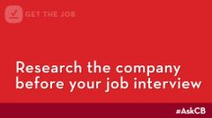 Research a company before your job interview | Ask CareerBuilder