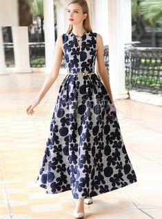 Floral Print Sleeveless Oversize Maxi Dress