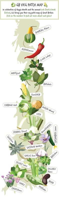 We love a funny place name. In celebration of Veggie Month and the Leek Food & Drink Festival, LIVE LOVE LOCAL brings you their vegetable map of Great Britain. Click through to find out more about each place