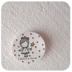 Hand drawn original fairy art brooch by stamptout on Etsy, £5.00