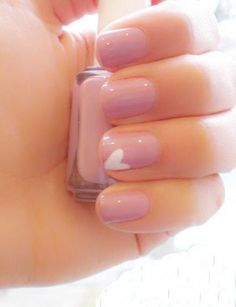Pale Pink with small white heart