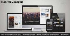 Download and review of Modern Magazine - Metro Multi-Purpose Theme, one of the best Themeforest Magazine & Blogs themes Download & review at -> http://best-wordpress-theme.net/modern-magazine-metro-multi-purpose-download-review