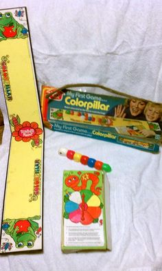 When I grabbed this Romper Room Colorpillar toy, I had vague memories of the Romper Room TV show… But not enough, apparently. Vintage Toys, Retro Vintage, Doll Toys, Dolls, Romper Room, Vintage Board Games, Kitsch, Card Games, Presents