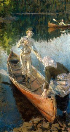 Akseli Gallen-Kallela (1861-1931) Juhannusyö / Midsummer Night 1889 - Finland
