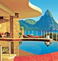 When your lavish sanctuary room has a plunge pool, a private butler and no fourth wall to obstruct the view of St. Lucia's Pitons, why would you ever need to le