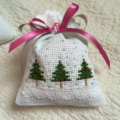 Cross stitch - trees