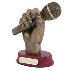 Resin Microphone in Hand Award Lip Sync Battle, Stage Set Design, Trophy Design, Awards, Resin, It Cast, Sculpting, Challenge, Success