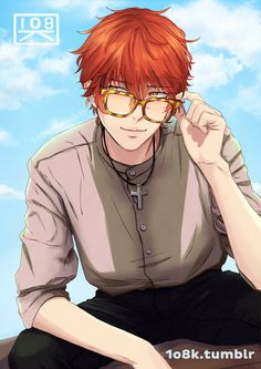 Image about anime in Mystic messenger💭 by Fujo~ Seven Mystic Messenger, Mystic Messenger Fanart, Mystic Messenger Characters, Mystic Messenger Memes, Anime W, Anime Guys, Kawaii Anime, Hello Darkness Smile Friend, Luciel Choi