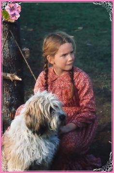 Melissa Gilbert played Laura Ingalls, with her dog Jack.