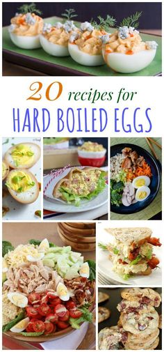 20 Egg-cellent Recipes Using Hard Boiled Eggs - think beyond basic deviled eggs and egg salad with this collection of hard boiled egg recipes. You have to see the cookies!