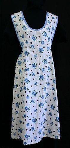 Treasure Hunt for high-style vintage clothing at Vintage Textile. Vintage apron.