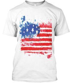 American Flag T-shirt Black and White | Teespring