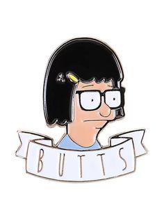 Bob's Burgers Tina Butts enamel pin
