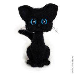 Котенок Кирюша - черный,кот,котик,котенок,черный кот,подарок девушке,подарок на 8 марта