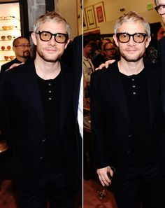 Instead of searching for all those missing socks — sherlockens: Martin Freeman at Paul Smith's...