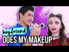 Boyfriend Does My Makeup | Music Countdown Video Day #2 - YouTube