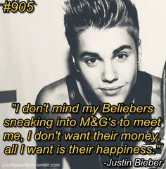 He is so sweet! He doesn't even care about our money. He cares about us