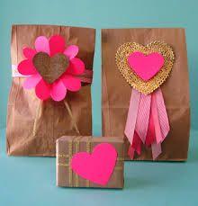 Paper bag  decorations.
