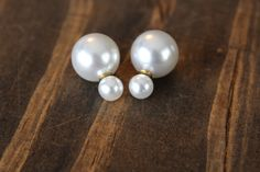 Pearl Ball-Back Earrings