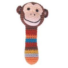 Rammelaar gehaakt aapje Global Affairs kraamcadeau. Gehaakte rammelaar van Global Affairs in de vorm van een aapje met heerlijk zachte vulling. De kleurrijke rammelaar maakt een zacht geluid als je de rammelaar beweegt. Een origineel babycadeau om te geven of te versturen!    Merk: Global Affiars