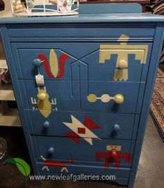 How cute is this painted Boy's Chest of Drawers!?