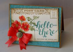 Floral Post Card by Diana Gibson - Cards and Paper Crafts at Splitcoaststampers