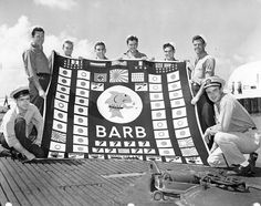 USS Barb Crew: The famous landing party! These eight men were the only people to invade mainland Japan during the Second World War. They also scored one of the rarest submarine kills of the war: A train!