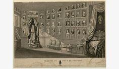 Many royals are depicted here in gravures - Les collections – Château de Versailles - La chambre du coeur de Voltaire à Ferney (See comments for the list)