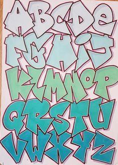 Graffiti Alphabet Styles, Graffiti Lettering Alphabet, Graffiti Words, Graffiti Writing, Graffiti Designs, Graffiti Characters, Doodle Lettering, Graffiti Styles, Doodle Fonts
