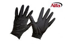 946 Alfa Nitril-Einweghandschuhe schwarz, ungepudert